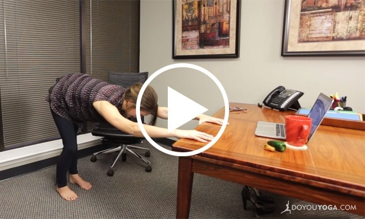 10-Minute Office Yoga for Back Pain (VIDEO)