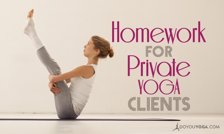 4 Snapshots of Homework for Private Yoga Clients
