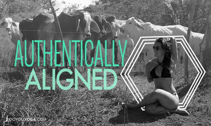 Authentically Aligned: Cow Face Pose