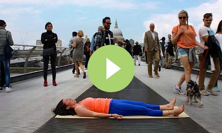 Finding Inner Peace on a Busy London Bridge (VIDEO)