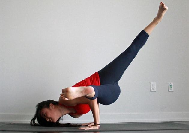 How To Do Twisted One-Legged Arm Balance Pose