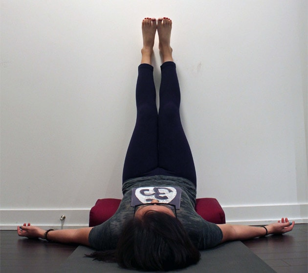 How To Do Legs-Up-The-Wall Pose