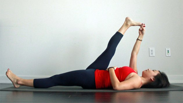 How to Do Reclining Hand-to-Big-Toe Pose