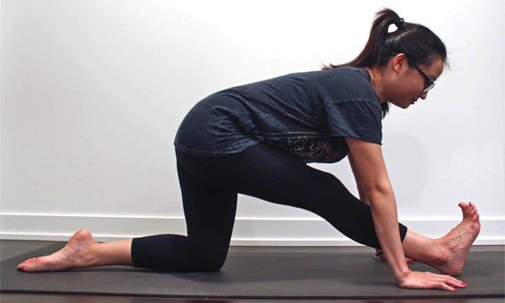 How to Do Half Splits Pose