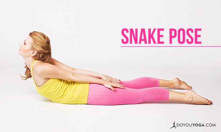 How to do Snake Pose