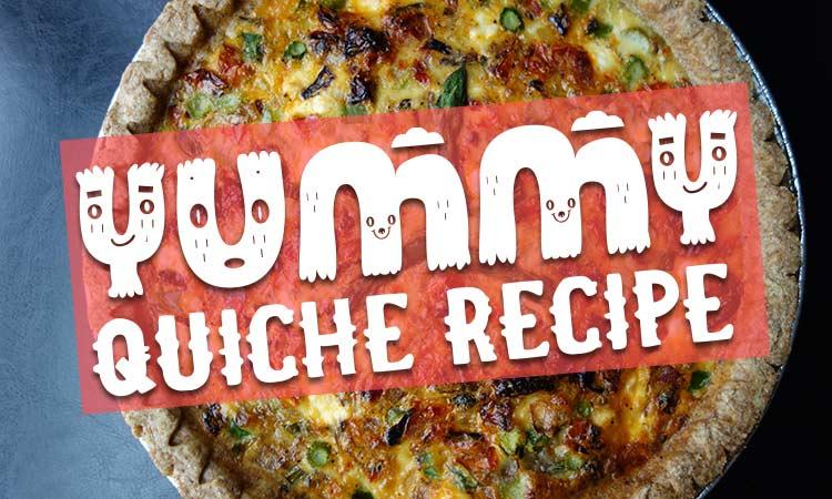 Recipe: Asparagus, Mushroom, and Goat Cheese Quiche