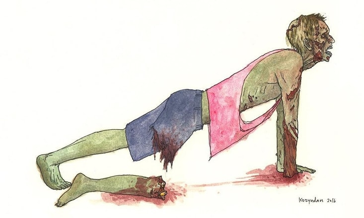 The Grateful Walking Dead: Zombies Doing Yoga!