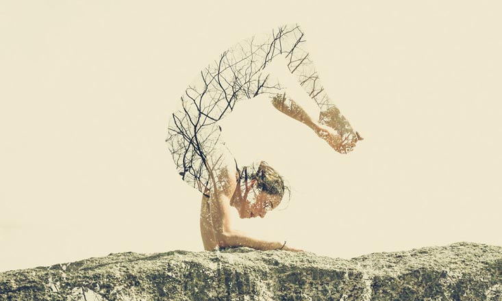 These Surreal Photos Combine Yoga Poses and Plant Elements to Promote Urban Green Spaces