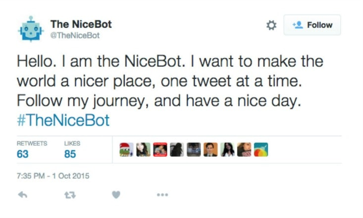 Twitter Bot Spreads Nothing But Niceness