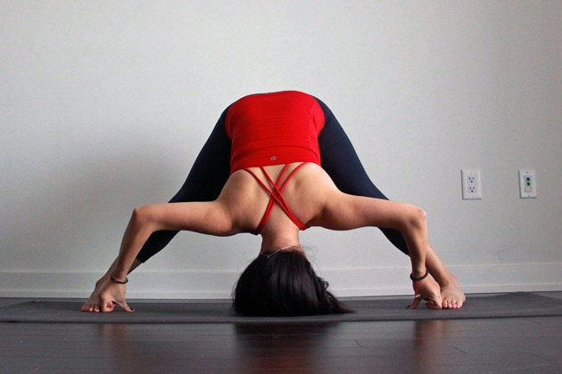 How To Do Wide-Legged Forward Bend