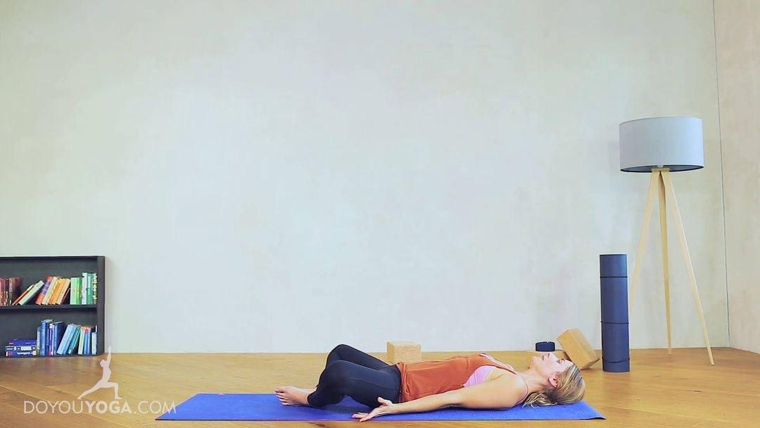 Reclined Bound Angle Pose / Supta Baddha Konasana