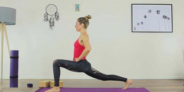 Happy Yoga Lunges