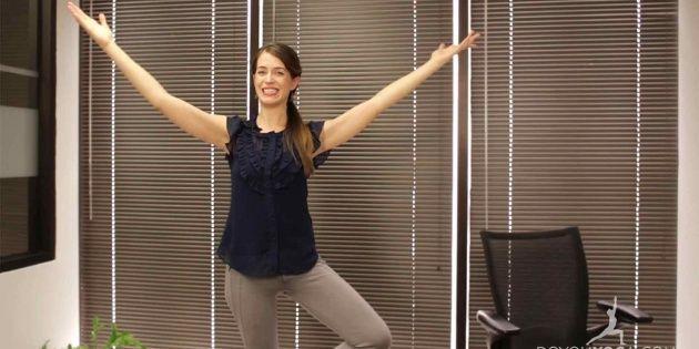 Office Yoga to Feel More Balanced