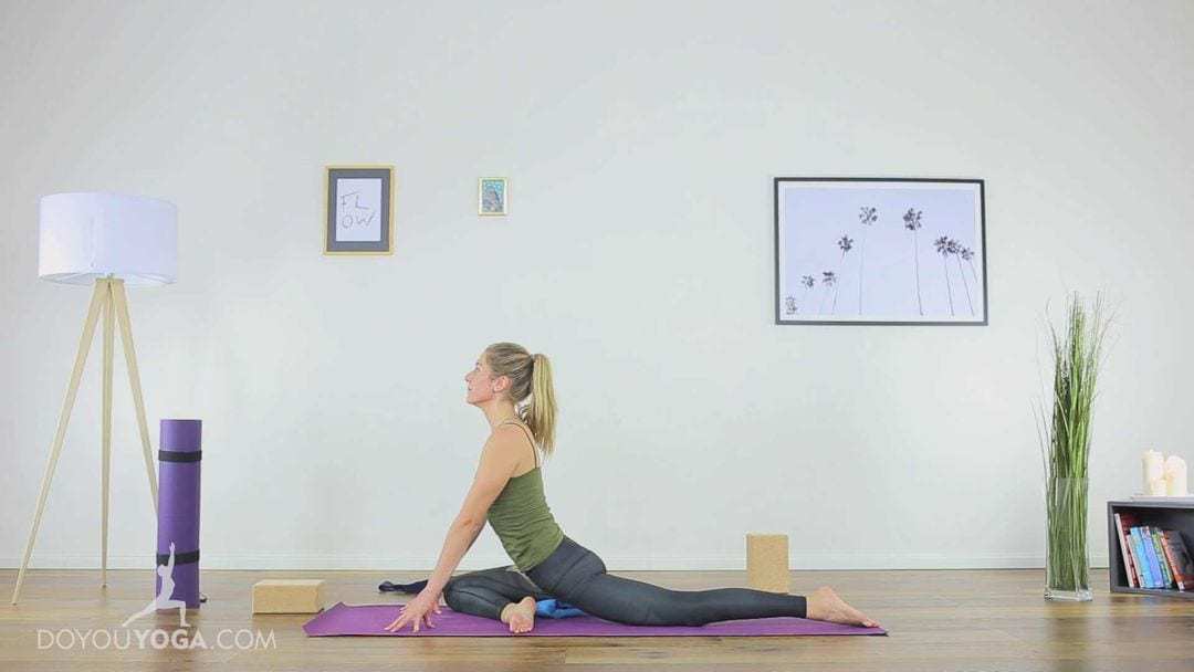 Release the Hips with Pigeon Pose