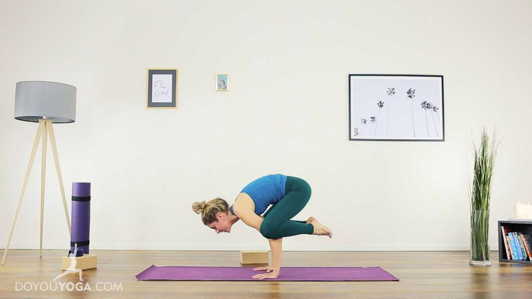 Solidify & Fly into Crow Pose