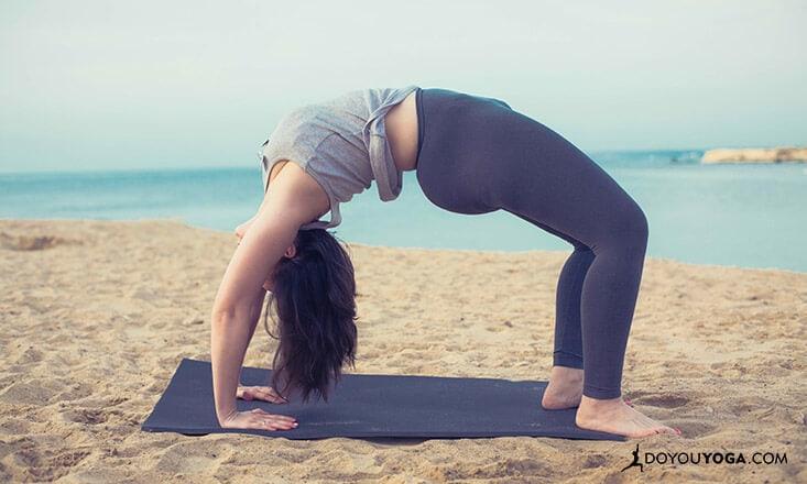Building Up to Wheel Pose or Chakrasana